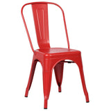 EdgeMod EM-112-RED-X4 Trattoria Side Chair in Red (Set of 4)