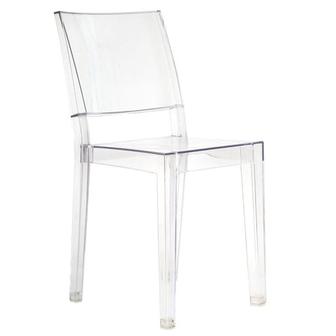 EdgeMod EM-118-CLR Burton Sqaure Chair in Clear