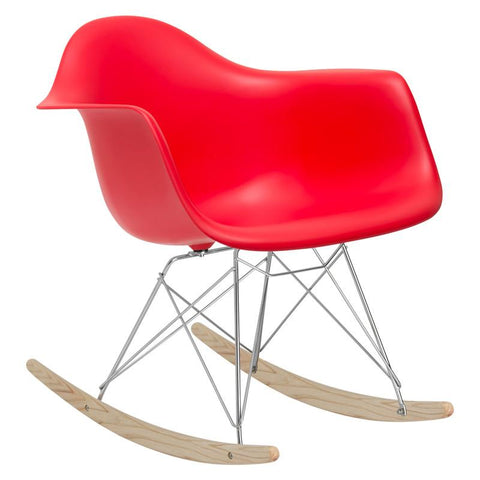 EdgeMod EM-121-RED Rocker Lounge Chair in Red