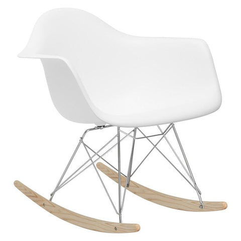 EdgeMod EM-121-WHI Rocker Lounge Chair in White