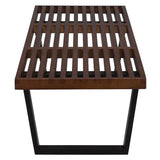 EdgeMod EM-122-DWAL Slat 5' Bench In Dark Walnut
