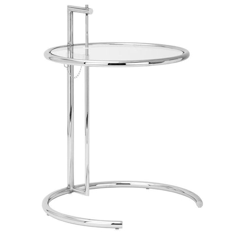 EdgeMod EM-130-SLV-X2 Eileen Gray Side Table in Silver (Set of 2)