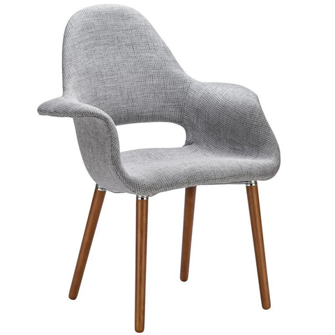 EdgeMod EM-141-LGR Barclay Dining Chair in Light Grey