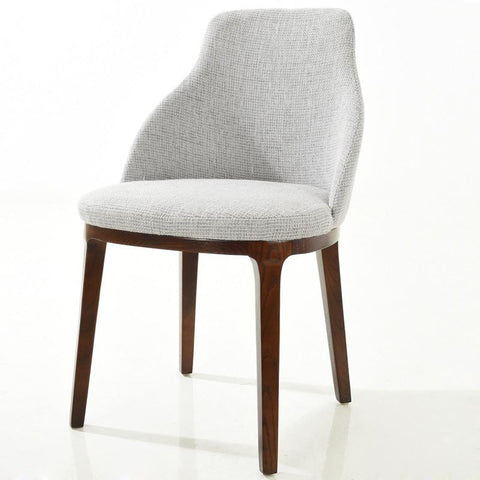 EdgeMod EM-179-LGR Caroline Dining Chair in Light Grey