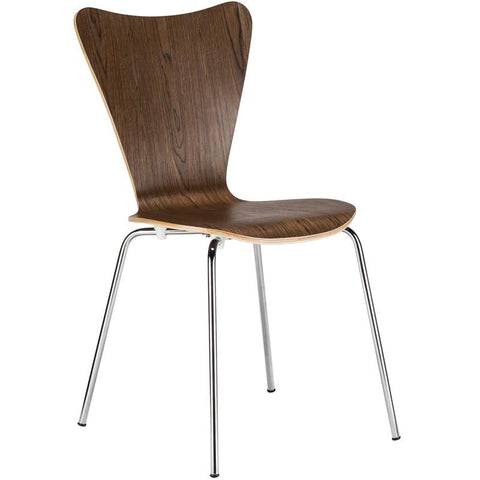 EdgeMod EM-183-WAL Elgin Side Chair in Walnut