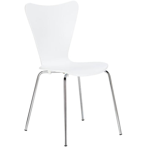 EdgeMod EM-183-WHI-X4 Elgin Side Chair in White (Set of 4)