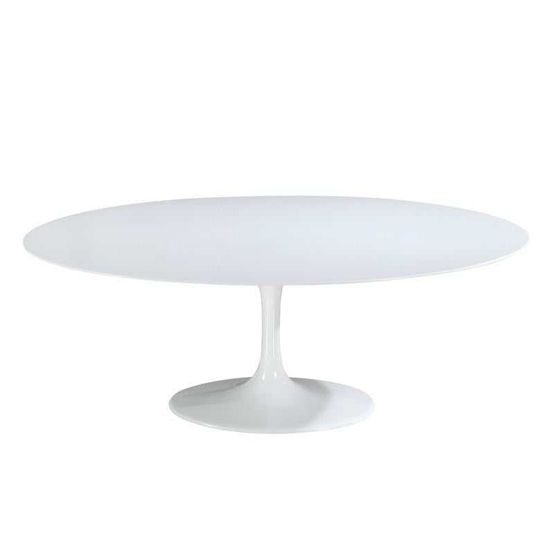 Table Oval Fiberglass Dining Table White Daisy Photo