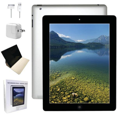 Apple MC705LLA-ER Refurbished 16GB iPad 3 with Wi-Fi (Black) - Peazz.com