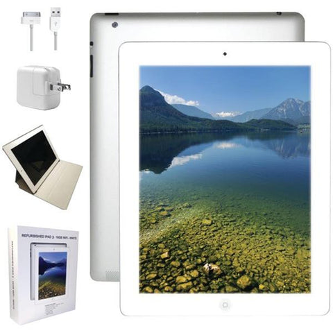 Apple MD328LLA-ER Refurbished 16GB iPad 3 with Wi-Fi (White) - Peazz.com