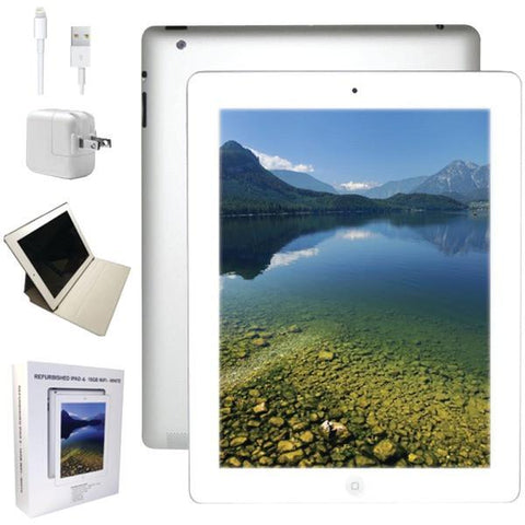 Apple MD513LLA-ER Refurbished 16GB iPad 4 with Wi-Fi (White) - Peazz.com