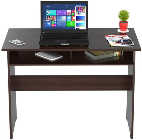 Inval America ES-0503  Espresso-Wengue Finish Writing Desk with Storage Area - Peazz.com - 1