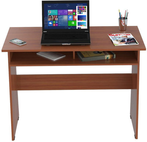 Inval America ES-6503 Cedar Finish Writing Desk with Storage Area - Peazz.com - 1