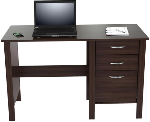 Inval America ES-7103 Espresso-Wengue Finish Writing Desk with 3 Drawers - Peazz.com - 1