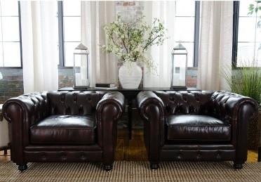 Top Grain Leather Collection Saddle Standard Chairs Estate 80 Product Photo