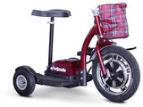 EWheels Ew-18R Stand/Ride Scooter With Folding Tiller- Red