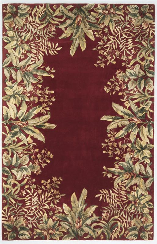 Tropical | Emerald | Border | Runner | Ruby | Wool | Rug