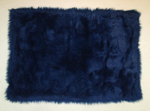 Fun Rugs FLK-001-3958 Flokati Collection DARK BLUE Dark Blue - 39 x 58 in. - Peazz.com
