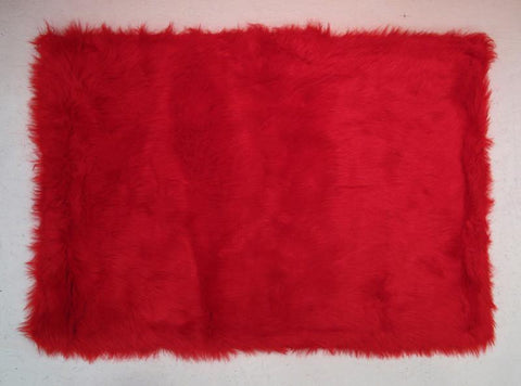 Fun Rugs FLK-002-3958 Flokati Collection RED Red - 39 x 58 in. - Peazz.com