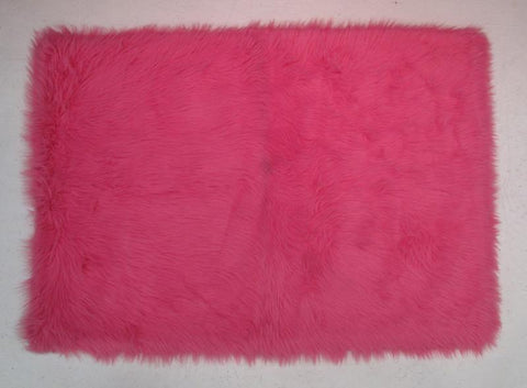 Fun Rugs FLK-003-3147 Flokati Collection HOT PINK Hot Pink - 31 x 47 in. - Peazz.com