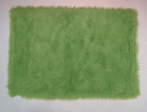 Fun Rugs FLK-004-3958 Flokati Collection LIME GREEN Lime Green - 39 x 58 in. - Peazz.com