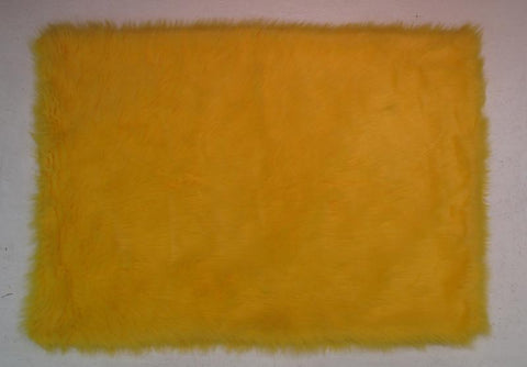 Fun Rugs FLK-005 3958 Flokati Collection YELLOW Yellow - 39 x 58 in. - Peazz.com