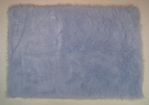 Fun Rugs FLK-011-3147 Flokati Collection LIGHT BLUE Light Blue - 31 x 47 in. - Peazz.com