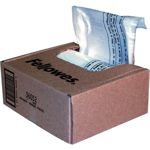 Fellowes 36052 Waste Bags for Small Office Shredders - Peazz.com