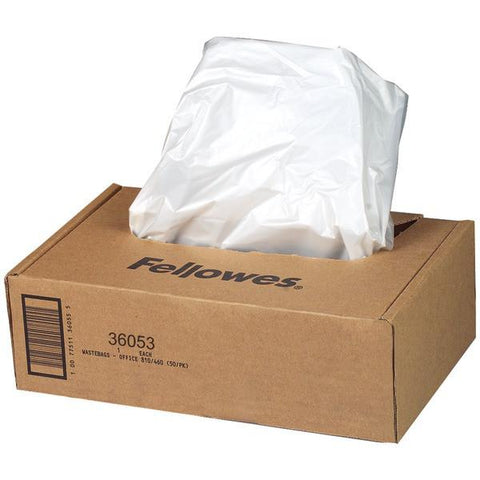Fellowes 36053 Waste Bags for Powershred Small Office Shredders (9 Gallons) - Peazz.com