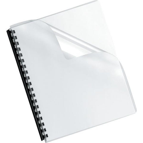 Fellowes 52311 Crystals Transparent PVC Binding Cover, Oversized, 100pk - Peazz.com