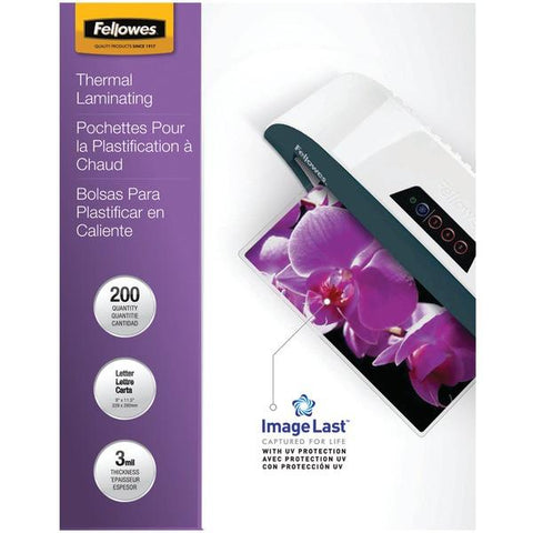 Fellowes 5244101 ImageLast Laminating Pouches, Letter, 200pk (3Mil) - Peazz.com
