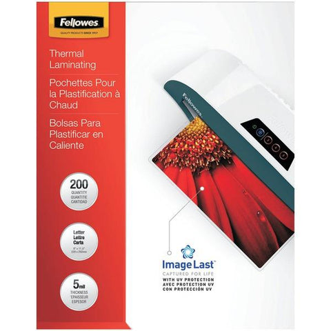 Fellowes 5245301 ImageLast Laminating Pouches, Letter, 200pk (5Mil) - Peazz.com