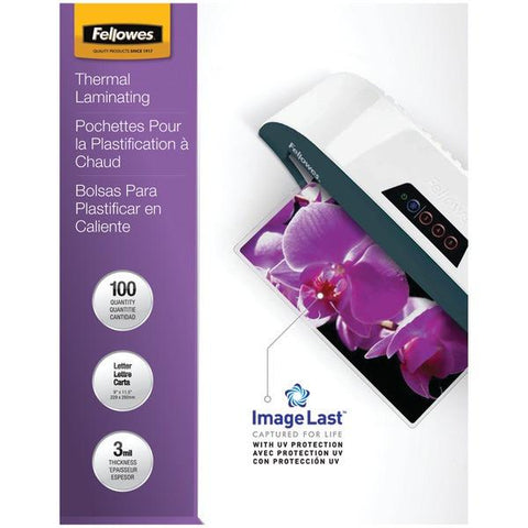 Fellowes 52454 Letter Laminating Pouches, 100 pk (3mil) - Peazz.com