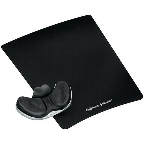 Fellowes 9180301 Gliding Palm Support with Microban Protection (Black) - Peazz.com
