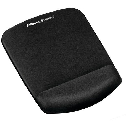 Fellowes 9252001 PlushTouch Mouse Pad Wrist Rest with FoamFusion (Black) - Peazz.com