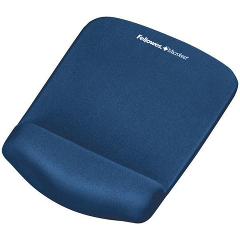 Fellowes 9287301 PlushTouch Mouse Pad Wrist Rest with FoamFusion (Blue) - Peazz.com
