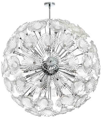 Dainolite FRA-4020C-PC-CLR 20LT Frangipani Chandelier w/Clear Glass
