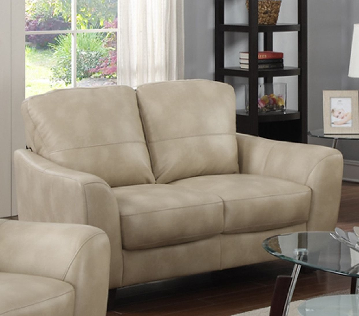 Bonded Leather Love Seat Club