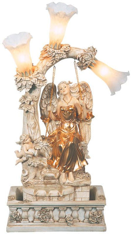 Ok Lighting FT-1160/3L Angel Table Fountain - Peazz.com
