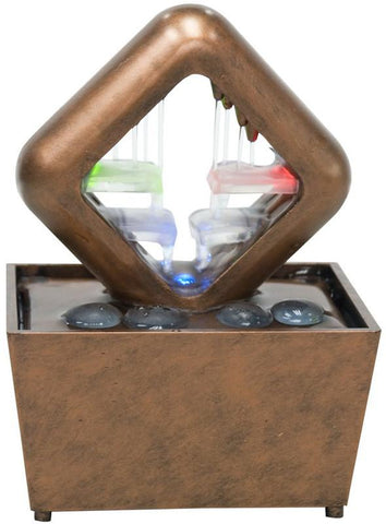 "Ok Lighting FT-1168/1L 6.5""H Table Fountain With Light - Peazz.com"