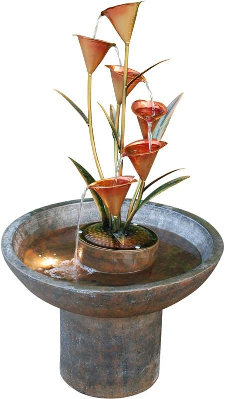 Ok Lighting FT-1191/1L Copper Bronze Floor Fountain