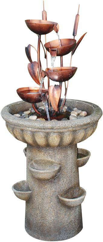 Ok Lighting FT-1192/1L Copper Bronze Floor Fountain