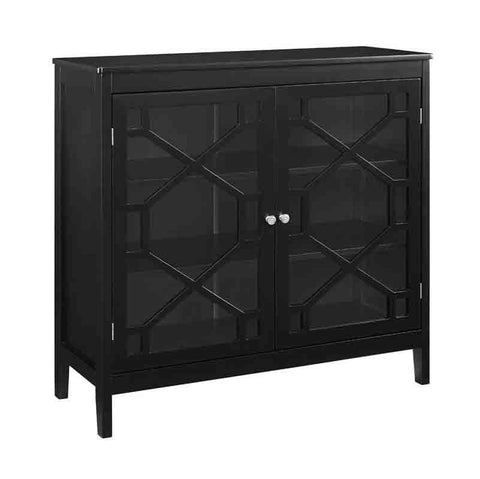 Linon FT115BLK01U Felicia Black Large Cabinet
