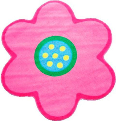 Fun Rugs FTS-077 3939 Fun Time Shape Collection Poppy Light Pink Multi-Color - 39 x 39 in. - Peazz.com