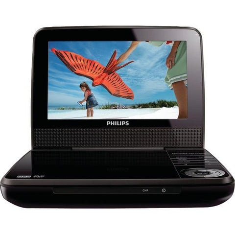 "Philips PET741M/37 7"" LCD 2-Hour Playback Portable DVD Player - Peazz.com"