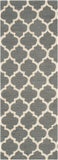 "Momeni GEO00GEO-4GRY2376 Chinese Hand Hook Collection Grey Finish Runner 2'3""X7'6"""