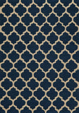 Momeni GEO00GEO-4NVY3656 Chinese Hand Hook Geo Collection Navy Finish Rugs