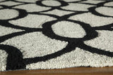 "Momeni GEO00GEO17BLK7696 Chinese Hand Hook Collection Black Finish Rugs 7'6""X9'6"""