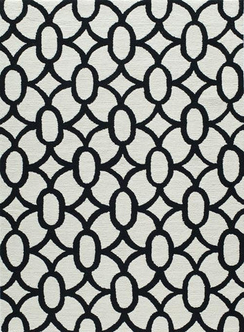 Momeni GEO00GEO17BLK7696 Chinese Hand Hook Geo Collection Black Finish Rugs