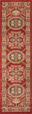 "Momeni GHAZNGZ-02RED2376 Turkish Machine Made Collection Red Finish Runner 2'3""X7'6"""