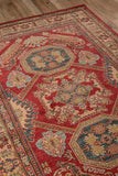 "Momeni GHAZNGZ-02RED3B57 Turkish Machine Made Collection Red Finish Rugs 3'11""X5'7"""